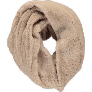 Sarlini Knit Snood Ronde Zand Dames colsjaal Fake Fur