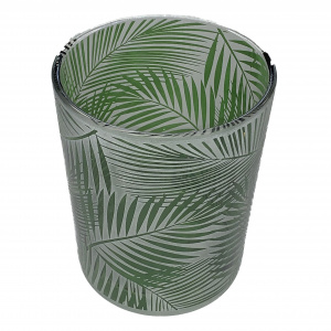 J-Line-Windlicht tropical glas groen
